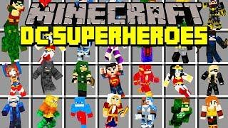 Minecraft DC SUPERHEROES MOD!   THE FLASH, ARROW, SUPERMAN, BATMAN, & MORE!   Modded Mini-Game