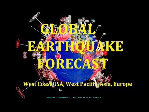 7/22/2016 -- Global Earthquake Forecast -- West Coast to Midwest + West Pacific Unrest