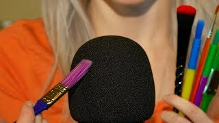 ASMR Rough Mic Brushing, Scratching  (No Talking)