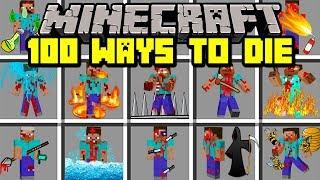 Minecraft 100 WAYS TO DIE MOD! | SURVIVE 100 DIFFERENT WAYS TO DIE! | Modded Mini-Game
