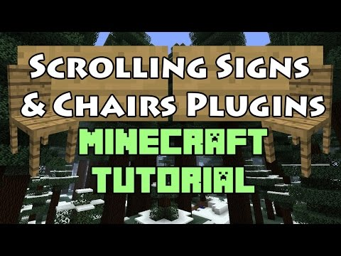 Scrolling Signs and Chairs Minecraft Plugin Tutorial 1.10