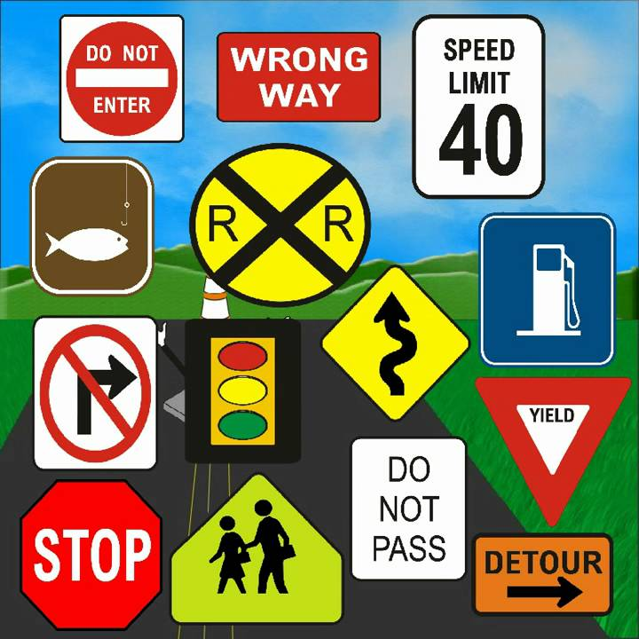 Pictures Of Traffic Signs For Kids