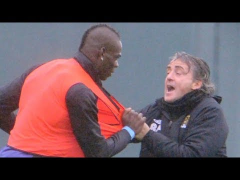 Mario Balotelli vs Roberto Mancini Fight!