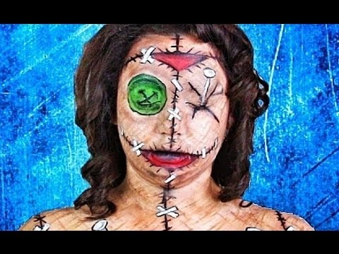 VOODOO DOLL MAKEUP TUTORIAL!