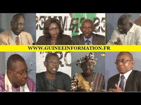 Législatives du 24 septembre 2013. Programmes croisés, invités : Aliou Condé, UFDG; Saikou Yaya Barry, UFR; Django Keita, UNED; Abdoulaye Bah, NGR; Hadja Fatou Camara, PUSG; Daouda Kanté, UFD.
