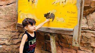 Zoo With Funny Kids . Zoo songs for children.Animal sound.süßes kinder. اطفال في حديقة الحيوانات