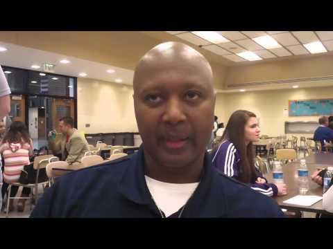 Bishop Dwenger High School basketball coach Cleveland Inge - 10/24/2013