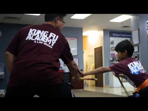 Filipino Martial Arts Escrima techniques with a talented 9 year old - Las Vegas Kung Fu Academy Image 1