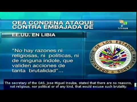 OAS Condemns Attack Against US Embassy in Libya