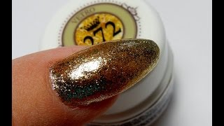 Vetro Gold Leaf Gel = AMAZING !------------BEAUTIFUL ( UV/LED )