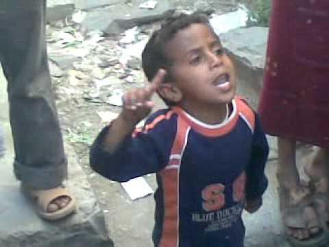طفل يافعي يتلو الشعر من أل منصور