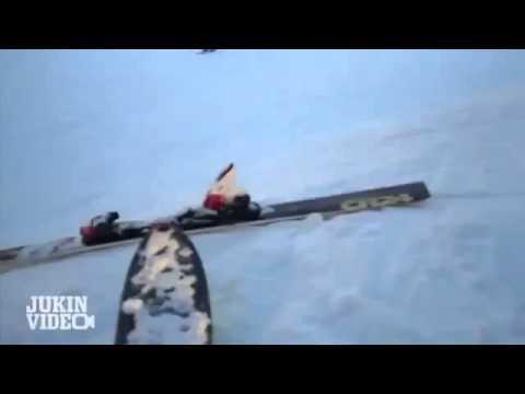 Лыжа сбила лыжника!