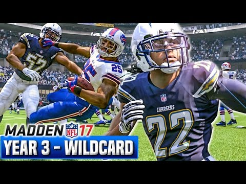 Madden 17 Chargers Franchise Mode Year 3 - Wildcard Playoffs vs Bills | Ep.65
