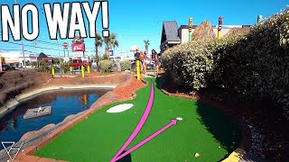 Lucky Mini Golf Hole in Ones At A Professional Mini Golf Course!
