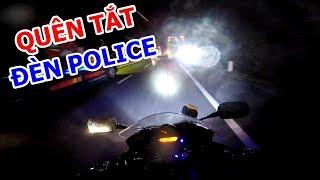 Quên tắt đèn Police khi gặp CSGT   MotoVlog Nha Trang