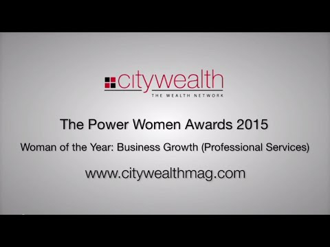 Citywealth Power Women Awards 2015 - Woman of the Year: Business Growth (Professional Services)