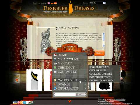 0 Designer Dresses osCommerce template