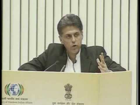 Manish Tewari's address on Pravasi Bhartiya Divas