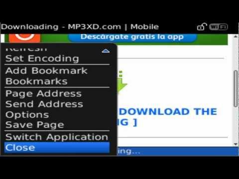 Descargar musica desde Blackberry 8520