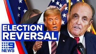 Rudy Giuliani adamant for Trump election result reversal   9 News Australia