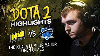 NAVI Dota2 Highlights vs Vega Squadron @ Kuala Lumpur Major Open Quals