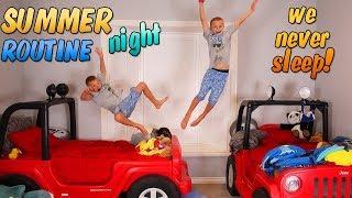 Twins Summer Night Routine - Caught on Hidden Camera!