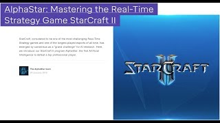 GOOGLE DeepMind - AlphaStar: Mastering the Real-Time Strategy Game StarCraft II