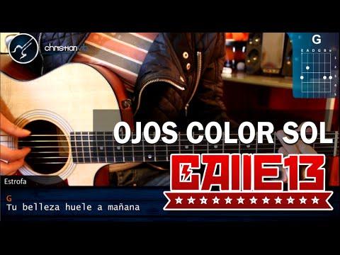 Cómo tocar Ojos Color Sol de Calle 13 Ft. Silvio Rodríguez En guitarra HD christianvib