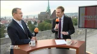 23-09-2011 ZDF-Morgenmagazin Papstbesuch ECKIGER TISCH