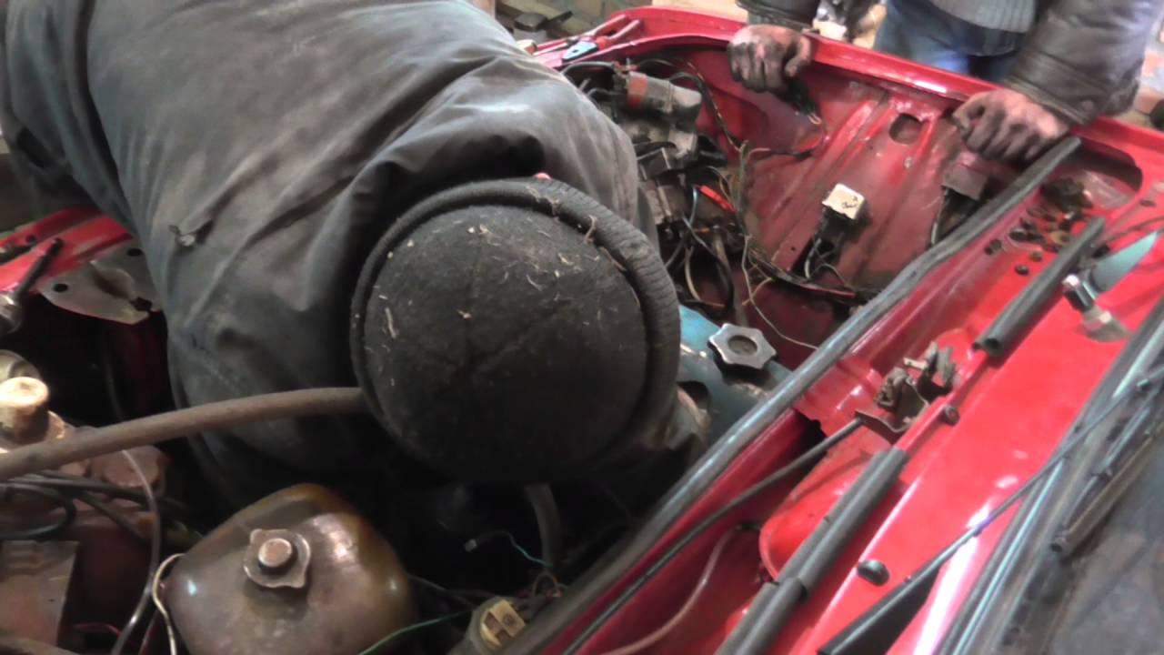 Установка двигателя на ваз 2106 видео