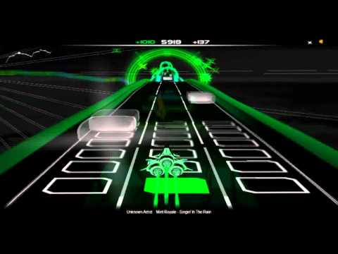 Singing in the rain (by Mint Royale) Audiosurf