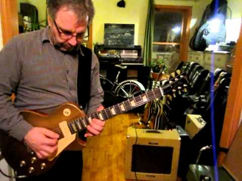 Gibson 60s Tribute Les Paul Goldtop P90s - Peavey Delta Blues - Ron Mercer
