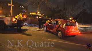 A woman is hurt after a minor car accident / Vieux-Rosemont 17/01/18