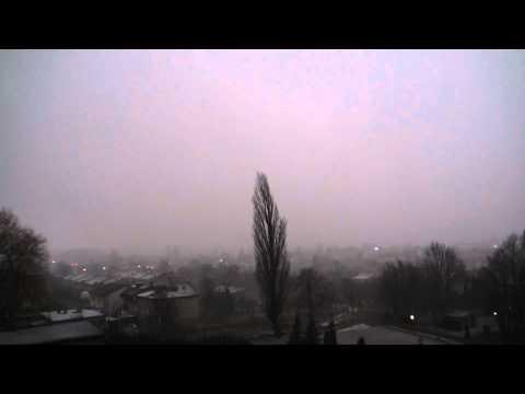 Nagłe Grzmoty I Pioruny W Częstochowie (04.01.2012)