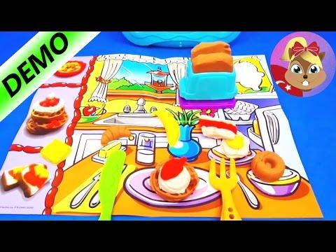 Play Doh Oyun Hamuru Türkçe Kahvaltı Keyfi Breakfast - Oyun hamuru ile yemek keyfi