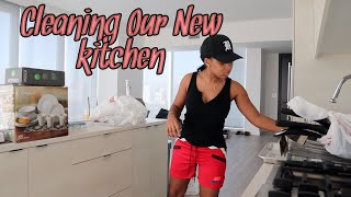 CLEANING OUR NEW KITCHEN! | Time Lapse Cleaning