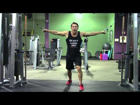 Cable Crossover - HASfit Chest Exercise Demonstration - Chest Fly - Cable Flys - Pectoral Fly