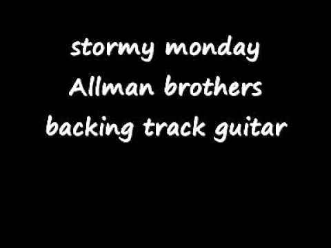 stormy monday Allman brothers backing track guitar