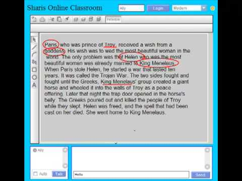 Example Of Online Tutor Tutoring Reading