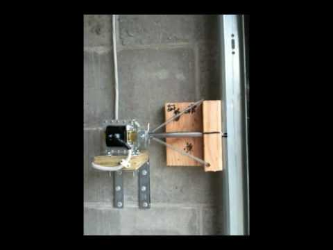 Garage door deadbolt