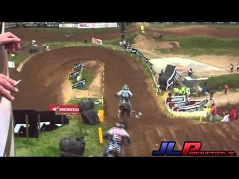 Jeffrey Herlings BIG Crash MXGP Ernee France 2013