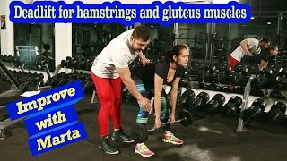 Deadlift for hamstrings and gluteus muscles - Improve with Marta