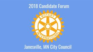 Janesville, MN City Council and Mayor Candidate Forum