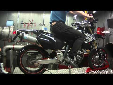 Suzuki DRZ 400 Dyno run Leovince x3 K&N Filter 3x3