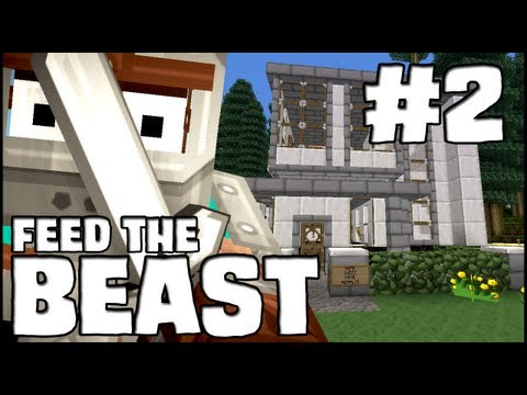 Minecraft Feed The Beast - Episode 2: The Spawn House