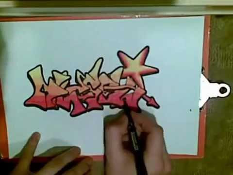 Граффити на бумаге!(Рисовал HGraper) - YouTube