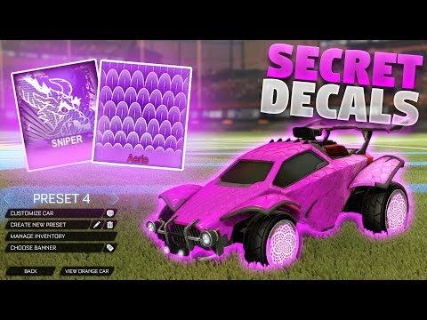 How To Get These Secret Mystery Decals In Rocket League (NEW MYSTERY DECALS!)