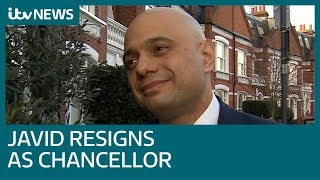 Sajid Javid: I was left with 'no option' but to resign as Chancellor in shock move | ITV News