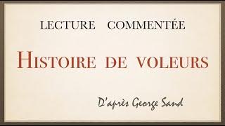 Урок французского языка. Lecture Commentée. Histoire De Voleurs.