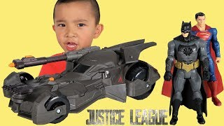 Justice League Mega Connon Batmobile Toy Unboxing Fun With Batman Superman Ckn Toys
